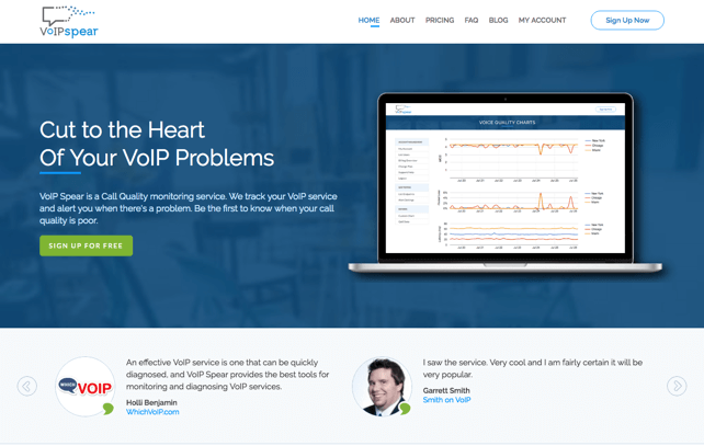 VoIP Spear's new home page